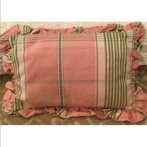 Other - PINK PLAID THROW PILLOW WITH RUFFLE FRENCH COUNTRY